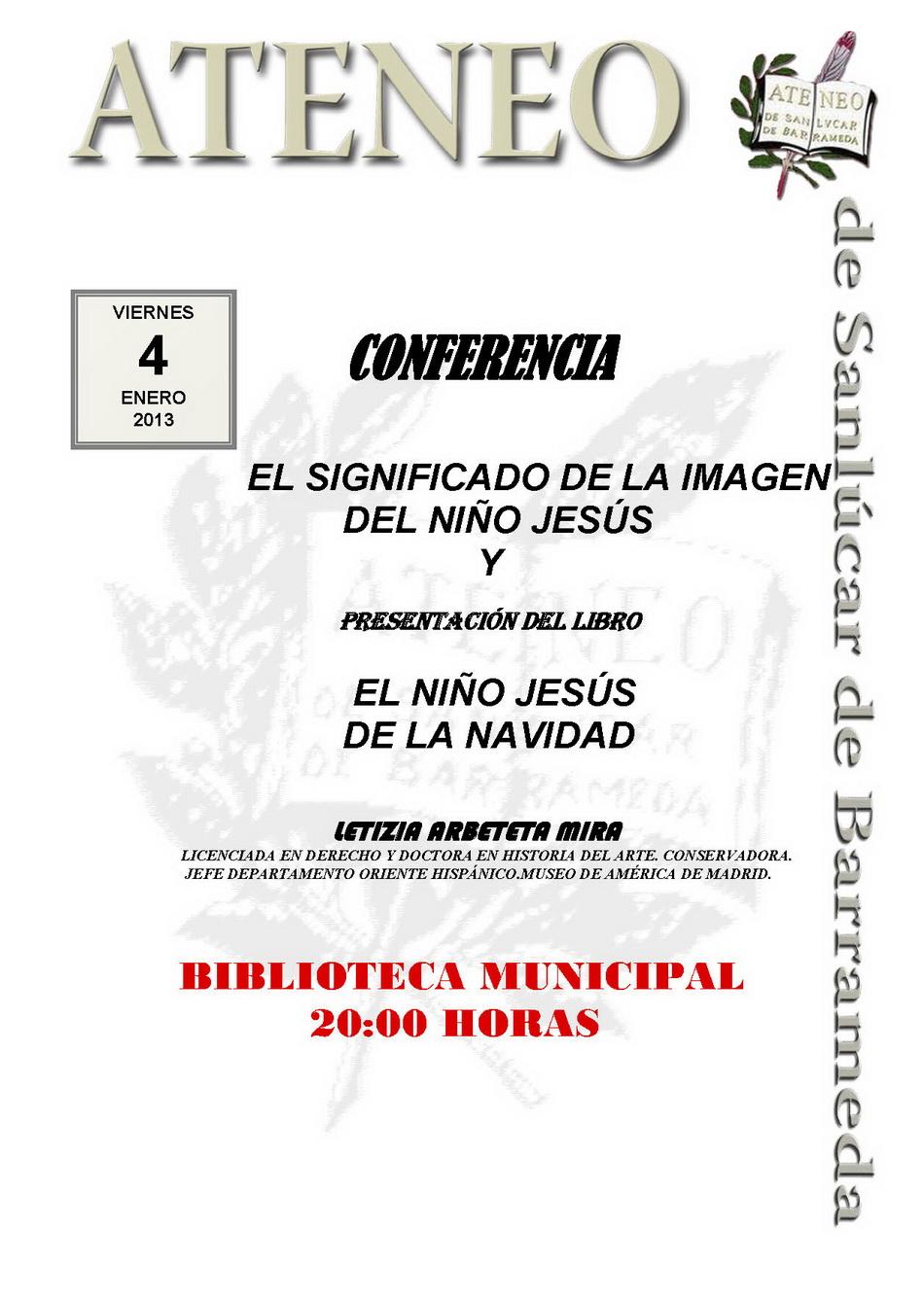 Conferencia y presentación de libro.
