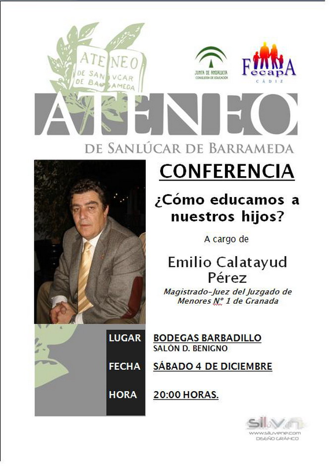 Conferencia a cargo de d. Emilio Calatayud Pérez.