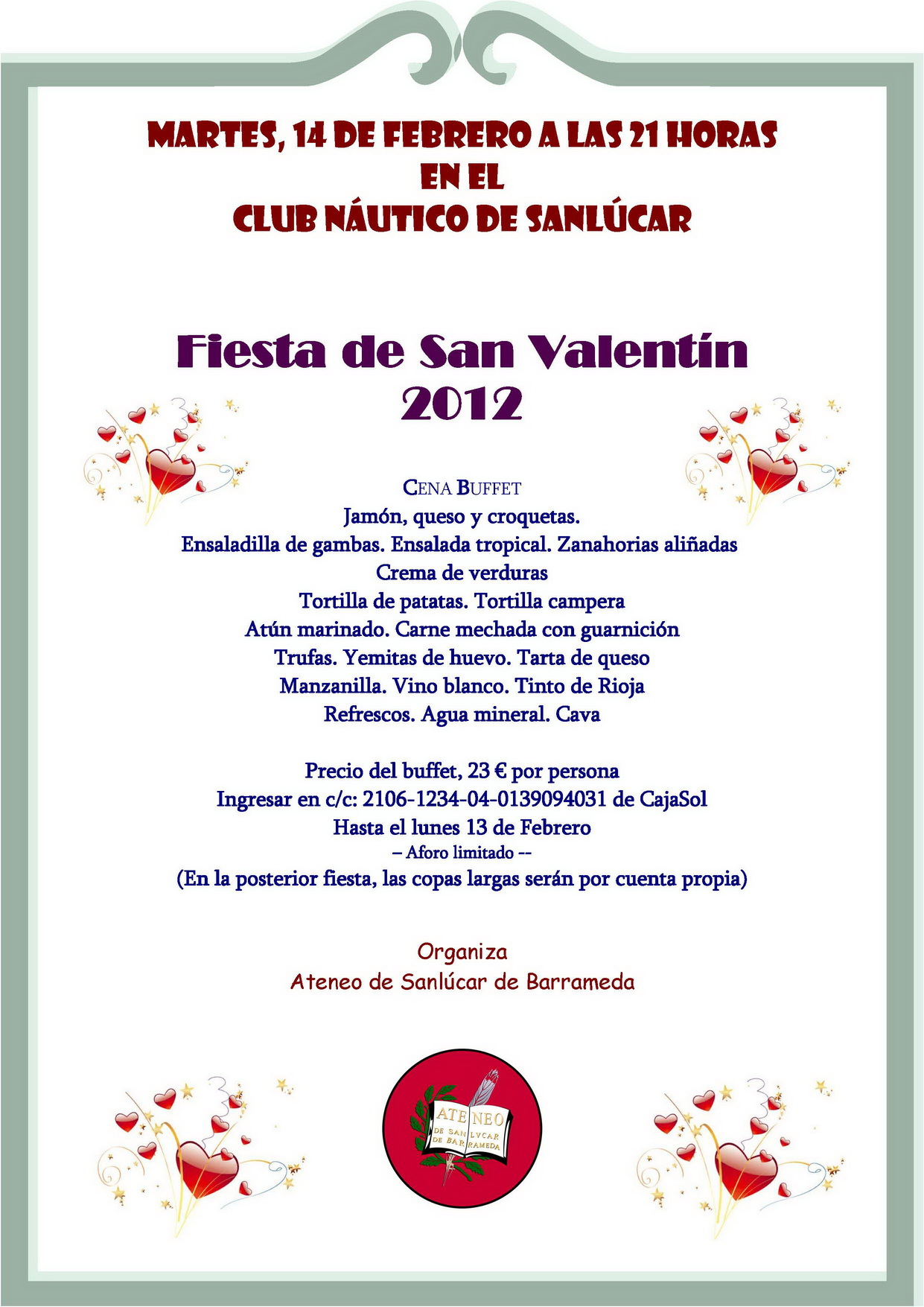 <b>Fiesta San Valentín, 2012</b>