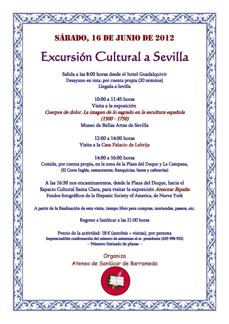 <b>Excursión Cultural a Sevilla</b>
