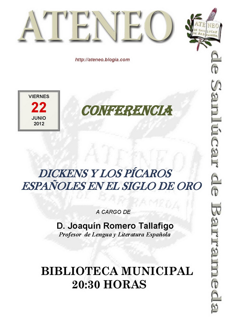Conferencia Charles Dickens.