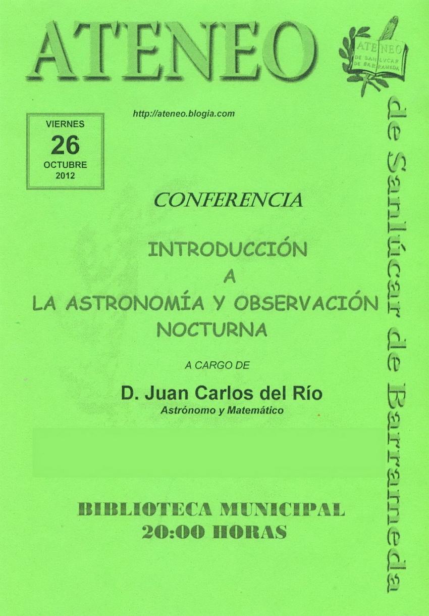 <b>Conferencia sobre astronomía.</b>