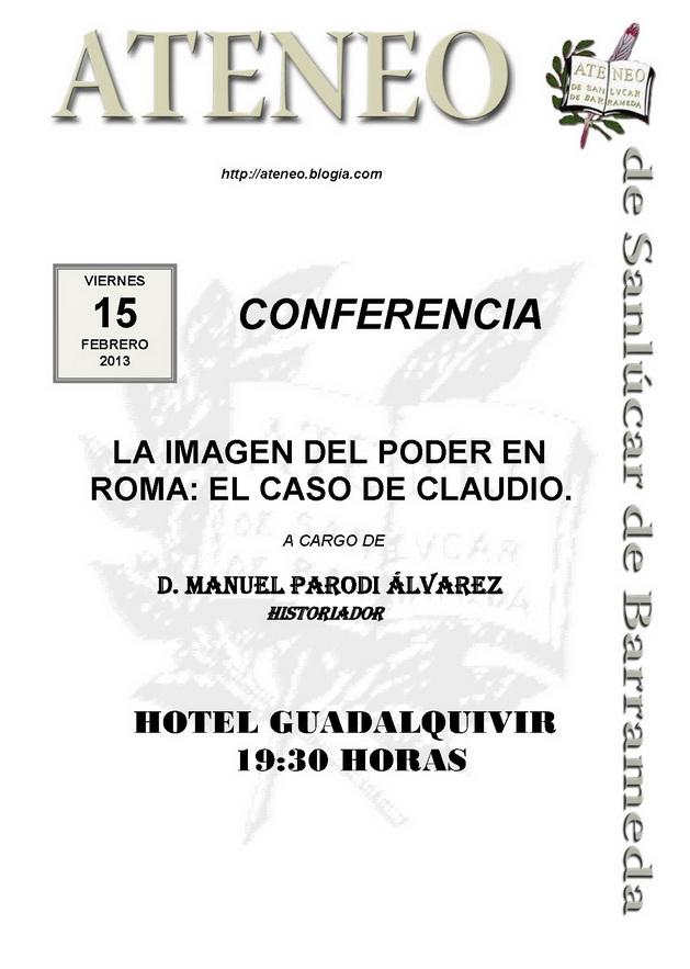 <b>Conferencia.</b>